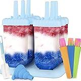 Molde para Helados 6 Fabricantes de Paletas Heladas, 3 Moldes de silicona para helados Reutilizable Moldes de Polos con Cepillo de Limpieza y Plegable Embudo