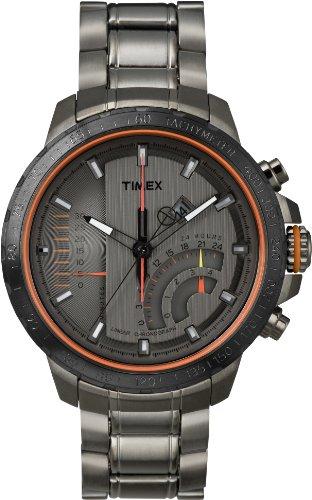Timex T2P273AU Orologio da Polso, Cronografo da Uomo, Cinturino in Acciaio Inox, Colore Grigio