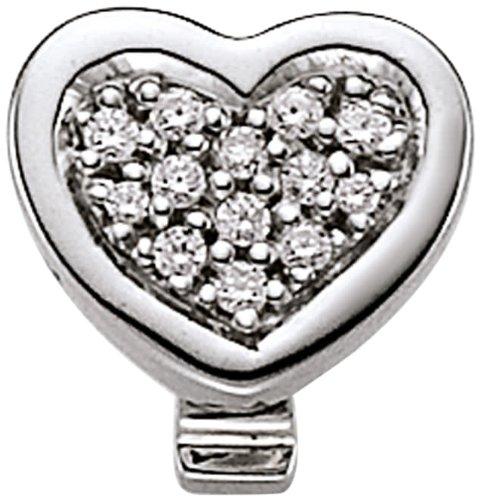 VIVENTY Damen-Anhänger 925 Sterling Silber NA 13 Zirkonia weiß 765692