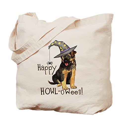 CafePress Halloween GSD Tragetasche, canvas, khaki, - Spooky Machen Halloween-kostüme Zu