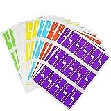 12 Pezzi Etichette per Cavi Autoadesive Resistente Agli Strappi Etichette Impermeabili per i Cavi di Organizzazione in Sala Computer Ufficio Casa (Bianco, Rosso, Giallo, Blu, Verde, Viola)