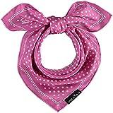 FRAAS Bandana Tuch gepunktet - elegantes Nickituch für Damen - schickes Seidentuch mit Polka Dots - Haarband gepunktet - Dreieckstuch Pink