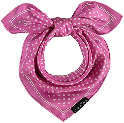 FRAAS Bandana Tuch gepunktet - elegantes Nickituch für Damen - schickes Seidentuch mit Polka Dots - Haarband gepunktet - Dreieckstuch Pink -
