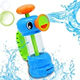 SHOBDW Kids Toys, Child Baby Bath Shower Swimming Pool Water Duck Design Water Pump Funny Toys Gifts (Blue)
