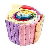 Vococal 24 PCS 3 Rangées 4 Crochets Élastique Soutien-Gorge Extender Brassiere Extensions Crochets pour Femmes Dame Filles Couleur Aléatoire
