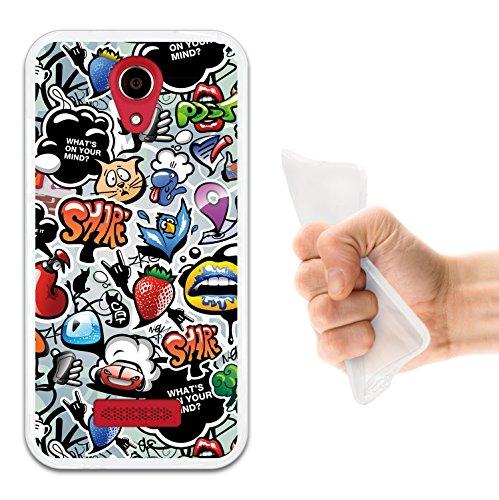 Doogee X3 Hülle, WoowCase Handyhülle Silikon für [ Doogee X3 ] Coloriertes Graffiti Handytasche Handy Cover Case Schutzhülle Flexible TPU - Transparent