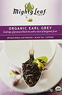 Mighty Leaf Organic Earl Grey Tea -- 15 Tea Bags, 1.32oz (37.5g)