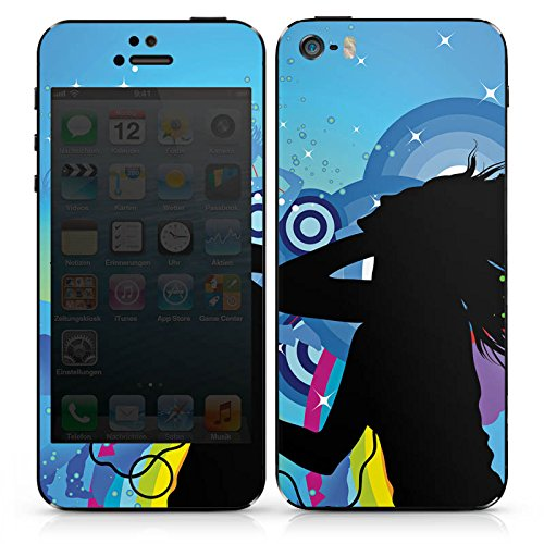 Apple iPhone 5s Case Skin Sticker aus Vinyl-Folie Aufkleber Disco Party Feiern DesignSkins® glänzend