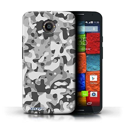 Kobalt® Imprimé Etui / Coque pour Motorola Moto X (2014) / Blanc 3 conception / Série Armée/Camouflage Blanc 3