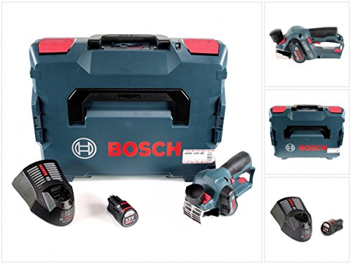 Bosch GHO 12V-20 Akku Hobel Professional in L-Boxx + 1x GBA 12 V 3,0 Ah Akku + GAL 1230 CV Schnell Ladegerät