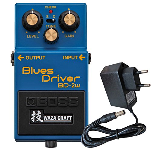 Boss BD de 2 W Blues Driver waza Craft Edition + Fuente Keepdrum 9 V