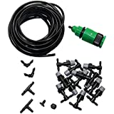 adhere to Fly 10 m/32.8 ft Misting Spray Cabeza DIY Planta Self Watering Manguera de jardín sistema de riego Sistema Kit