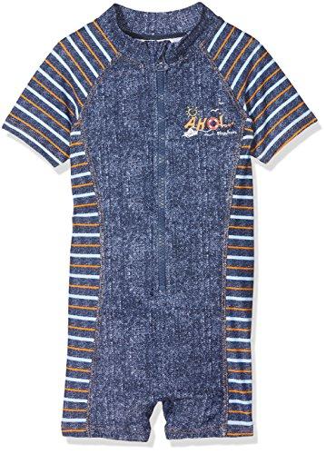 Playshoes Jungen Einteiler AHOI mit UV-Schutz Badeshorts, Blau (Jeansblau 3), 98 (Herstellergröße: 98/104)