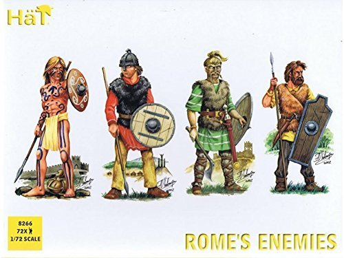 HaT 8192 Toy Soldiers Roman War Rome's Enemies 72 Figures 1/72 Scale Unpainted Plastic by HaT (Hat Toy Soldiers)
