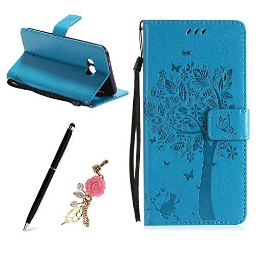 COZY HUT Per LG G3 Cover Custodia,Retro Matte Design con Magnetico Snap-on Book Style Internamente Silicone TPU Custodie Cover per LG G3-Smerigliato Verde