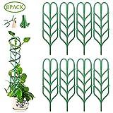 FOONEE 8 Stück Garten-Spalier Topfpflanzen-Unterstützung Mini-Kletterpflanzen-Spalier Töpfe Unterstützung Gemüse Blumen Reben Terrasse Klettergerüst