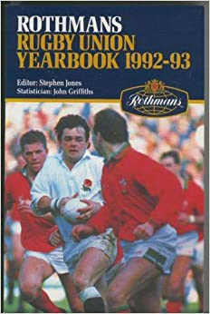 Book Rothmans Rugby Union Yearbook 1992 - 93
