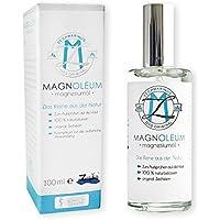 Olio di magnesio spray Zechstein MAGNOLEUM in flacone spray in vetro da 100 ml, clinicamente e dermatologicamente testato - soluzione salina di magnesio - cloruro di magnesio - olio di magnesio naturale - olio di magnesio – magnesium oil - Olio Sport