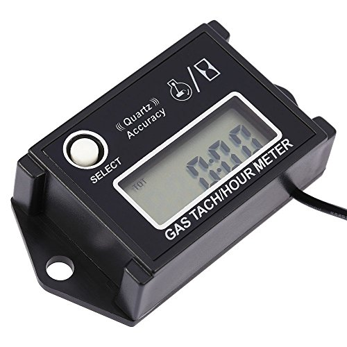 KKmoon LCD Digitaler Drehzahlmesser Tacho Tach/Stunde Meter u/min-Tester für 2/4-Takt-Motor Motorräder