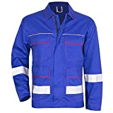 KERMEN Arbeits-Jacke Bundjacke Frankfurt Reflex-Streifen Blau 52