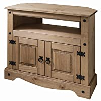 Wooden TV Stand Corner Unit Cabinet - solid wood