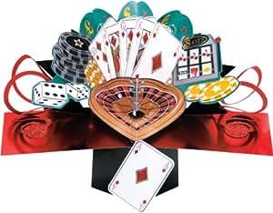 Second Nature - Biglietto di auguri pop-up per uomo, motivo: Casino, occasione speciale [lingua inglese]