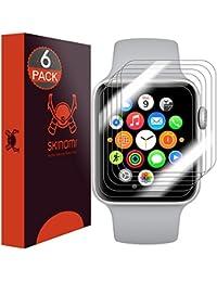 Skinomi TechSkin - Protector de pantalla para Apple Watch 38mm Series 3 & 2 & 1 (cubre toda la pantalla) (6 ejemplares)