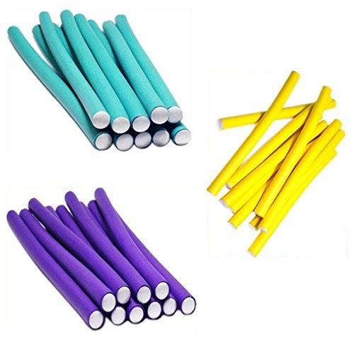 LnLyin 10 Stück Gummi Curling Eisenstangen Magie Lockenwickler Werkzeug