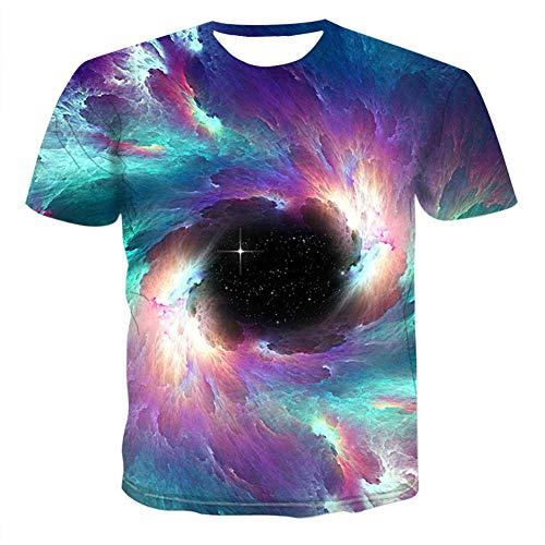 YCLOTH Herren T-Shirts, 2019 Sommer 3D gedruckt Tops, U-Ausschnitt Kurzarm Casual Bluse Tees Shirt, Sport Fitness Laufbekleidung-3-5XL (Frauen Trikot Kleid Form)