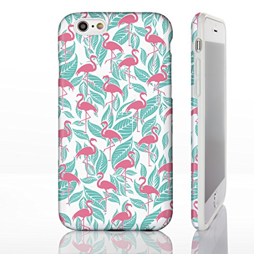 Hawaiian Floral Tropical Luau Party Handyhüllen für iPhone Modelle, Exotic Cactus, Hibiskus, Flamingo, Palm Spring Designs von iCaseDesigner, 23: Cactus in Pots on Teal Chevrons, iPhone 6+ / 6S+ Plus  16: Flamingos on Turquoise Leaf Background