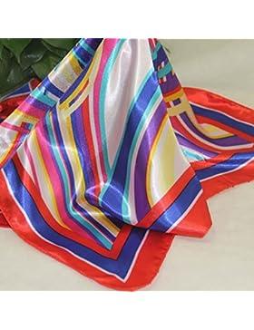 Nuevo Vintage elegante satén de seda se sienten queridos cuadrado pequeño pañuelo de cabeza y cuello