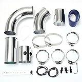 KKmoon Kit Filtro Aria Universale in Alluminio per Turbo Intercooler, Tubo intercooler 3 Pollici