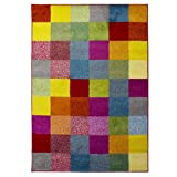 Flair Rugs Brights Grid Multicolour Teppich (120cm x 170cm) (Bunt)