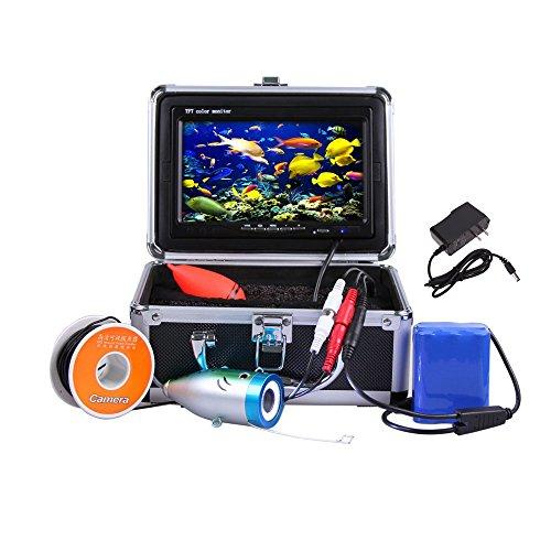 """Docooler Nachtsicht Fisch Sucher/Unterwasserfischerei Kamera, 7""""TFT LCD Farben Monitor/800TVL Beweglich/30M Kabel(Multi-Sprache,in Deutsch)"""