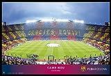 empireposter FC Barcelona - Camp NOU - Fußballstadion Poster Plakat - Größe 91,5x61 cm + Wechselrahmen der Marke Shinsuke® Maxi aus Kunststoff schwarz - mit Acrylglas-Scheibe.