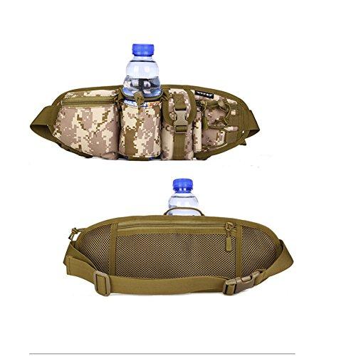 Wongfon Extreme Pak Invisible Hüfttasche Water Resistant Fanny-Satz-Tarnung für Camping, Wandern, Trekking. Farbe 4