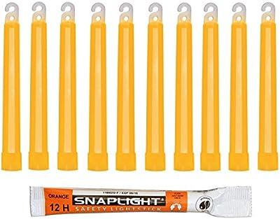 Cyalume SA8-1008084AM - Barras de luz naranja SnapLight Glow Sticks 15 cm, 6 Inch Lightstick super brillante con duración de 12 horas (Paquete de 100)