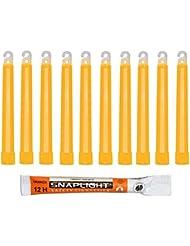 Cyalume Bâton lumineux orange SnapLight Glow Sticks 15cm, Light Sticks très lumineux  avec durée de 12 heures (Boite de 10)