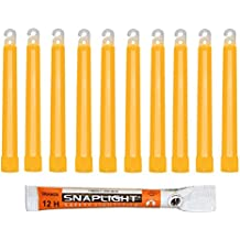 Cyalume Bastoncini Luminosi Arancione SnapLight Glow Sticks 15 cm - 6 Inch Light Stick ultra-luminoso con una durata da 12 Ore (Scatola da 10 pezzi)