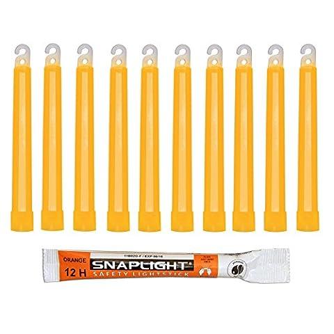 Cyalume Bâton lumineux orange SnapLight Glow Sticks 15cm, Light Sticks très lumineux avec durée de 12 heures (Carton de 500)