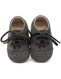 Zapatos de bebé, Zapatillas de bebé niño Anti-Slip Suave Suela de Encaje Zapatos 0-18 Meses