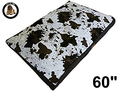 Cowhide Pattern Dog Bed will fit Ellie-Bo Dog Cage or Crate