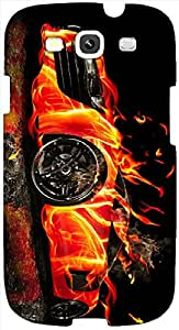 Timpax protective Armor Hard Bumper Back Case Cover. Multicolor printed on 3 Dimensional case with latest & finest graphic design art. Compatible with Samsung S3 - I9300 Galaxy S III Design No : TDZ-24019