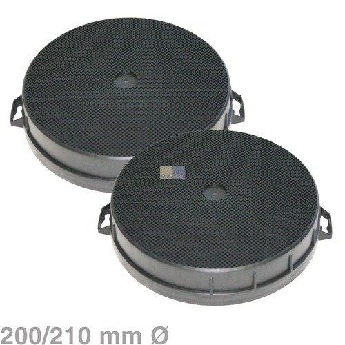 2Active Carbon Filter Durchmesser 200x 210mm, rund für Dunstabzugshauben Bosch Siemens Neff Nr.: 353121