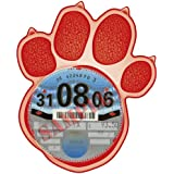 Parking Permit Holder Skin RED PAW PRINT Cat Dog - Free Postage