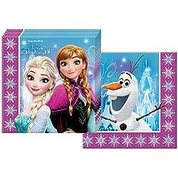 Ciao Procos 86757-Serviettes Papier Disney La Reine des neiges Northern Lights (33x 33cm, 2Plis), 20pièces, Multicolore