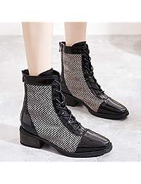 5466a748fcfb9 KPHY Zapatos de Mujer Pequeños Zapatos De Tacon Zapatos De Tacon En Bruto  Primavera Y Otoño Estilo Zapato Nuevo Niños Fondo…
