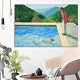 Impression Sur Toile Affiche David Hockney Claude Sur Pierre Paysage Art Piscine Portrait Photo Murale Pour Salon Décor À La Maison 60 * 90 cm