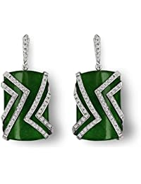 Aastha Jain Green Sterling Silver Earring For Women