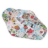 Phenovo Bio-Baumwolle Slipeinlagen Waschbar Wiederverwendbar Damenbinden für Menstruationstasse - Dessert, One Size